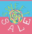 sweet sale3 vector image vector image