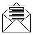 tax mail icon outline style vector image vector image
