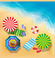 top view of beach sand vector image vector image