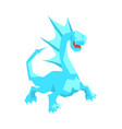 turquoise dragon mythical and fantastic animal vector image vector image