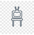 tv table concept linear icon isolated on vector image