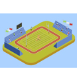 University Sport Complex Stadium Isometric vector image