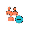 users with minus sign isolated people fire icon vector image