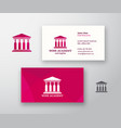 wine acade logo and business card template vector image