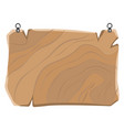 wooden sign with metal clips hanging board vector image vector image
