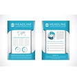 brochure flyer design template in A4 size vector image