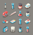 isometric 3d sign health medical hospital vector image