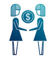 business people holding money coin dollar team vector image