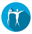 dancing flat icon with long shadow vector image