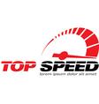 Top Speed vector image