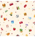 Pattern of flat design barbecue summer picnic vector image