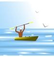 boatman vector image