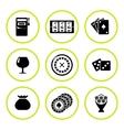 Set round icons of casino vector image