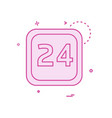 24 date calender icon design vector image vector image