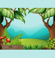 a green jungle template vector image vector image