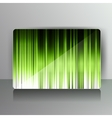 Abstract card with colored lines vector image