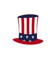 american hat icon vector image