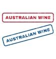 Australian Wine Rubber Stamps vector image vector image