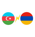 azerbaijan vs armenia vector image vector image