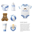 baby shower icons set