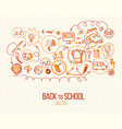 back to school infographic in retro style vector image vector image