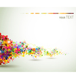 background with decorative composition vector image