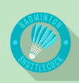 badminton shuttlecock logo flat style vector image vector image