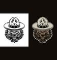 bear head in scout hat two styles objects