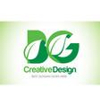 bg green leaf letter design logo eco bio leaf vector image vector image