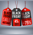 black friday shopping background with paper vector image