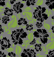 Black Rose seamless pattern Retro floral texture vector image vector image