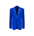 blue man suit on white vector image vector image