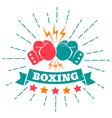 boxing retro ribbon vector image vector image