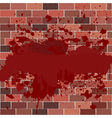 bricks full of blood vector image vector image