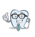 businessman tooth character cartoon style vector image