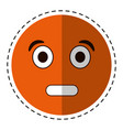 cartoon surprised emoticon funny vector image vector image