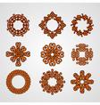 circular ornate openwork elements vector image vector image