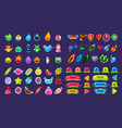 collection of colorful user interface assets for vector image vector image