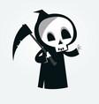 cute cartoon grim reaper vector image vector image