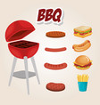 delicious bbq grill oven vector image
