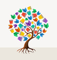 Education tree book concept vector image vector image