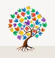 Education tree book concept vector image vector image