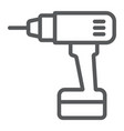 electric drill line icon tool and repair vector image