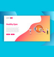 eyes or eye health doctor treatment concept for vector image