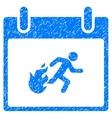 Fire Evacuation Man Calendar Day Grainy Texture vector image vector image