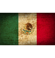 Flags Mexico with dirty paper texture vector image vector image
