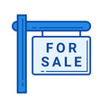 for sale sign line icon vector image vector image