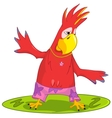 Funny Parrot Surfing vector image vector image