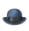 gentleman bowler hat 3d isolated vintage design vector image