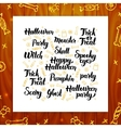 Halloween Greeting Lettering vector image vector image